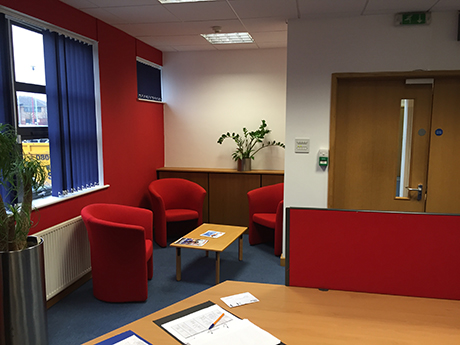 image of office that has been decorated in Northampton