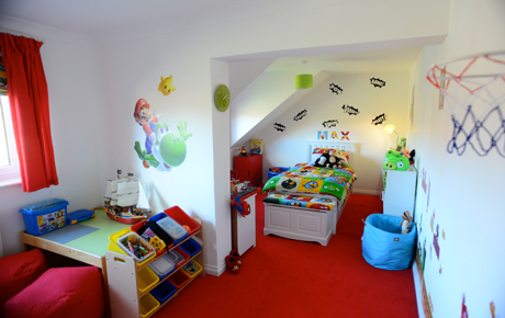 image of decorated childrens room in residential house